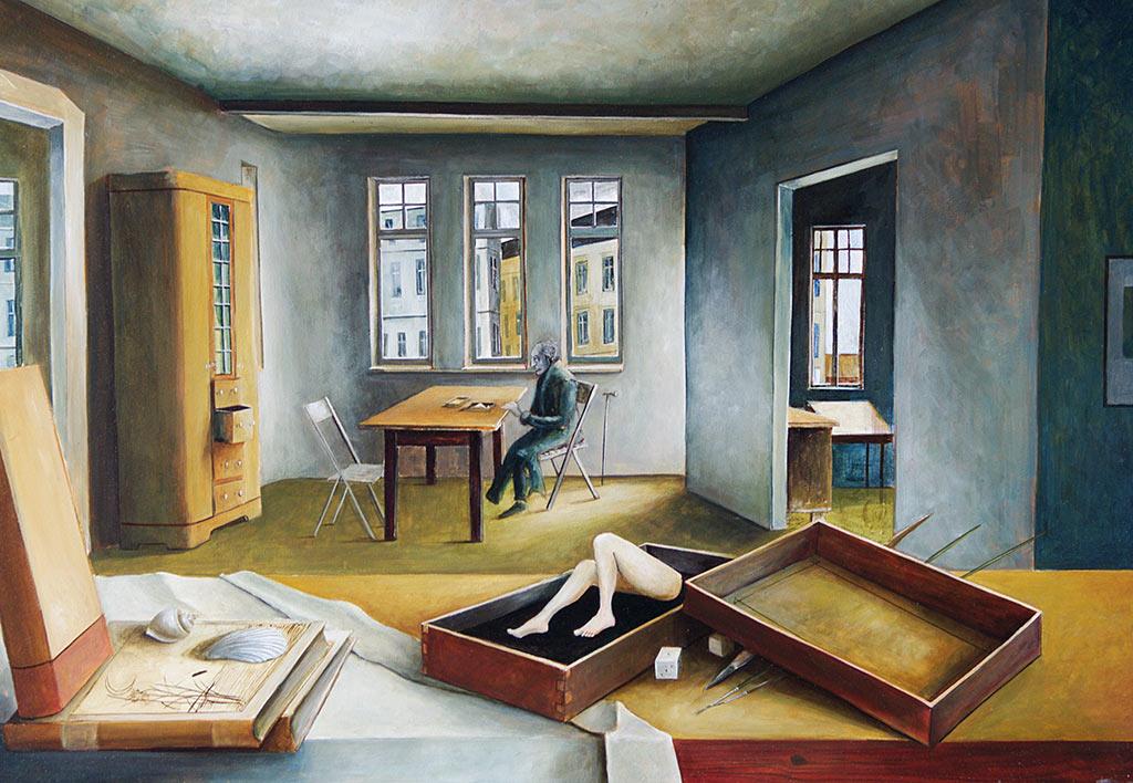 Ohne Titel, Benjamin Kerwien, Öl auf Holz, 61 × 41 cm, 2012