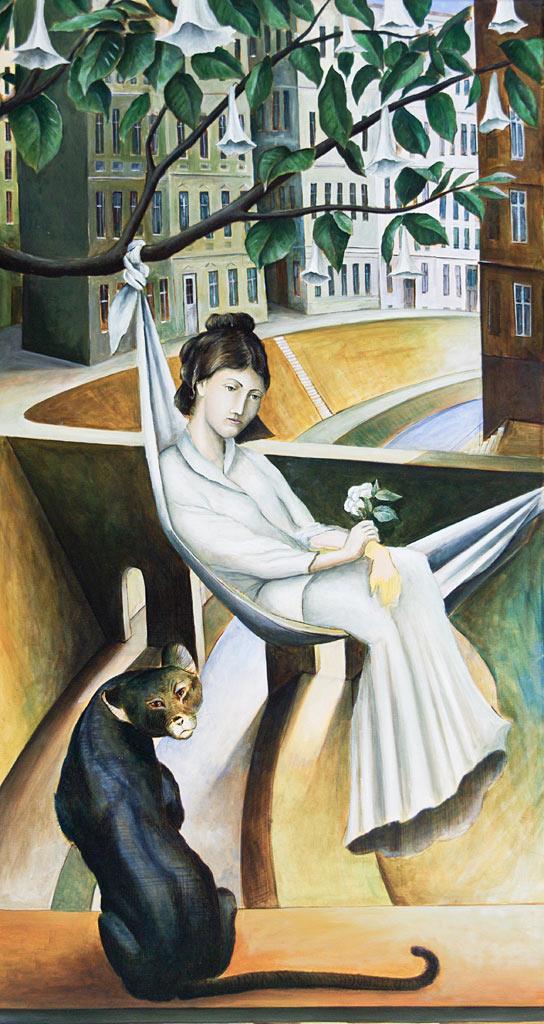 »Fiesta«, Benjamin Kerwien, Öl auf Leinwand, 50 × 100 cm, 2012