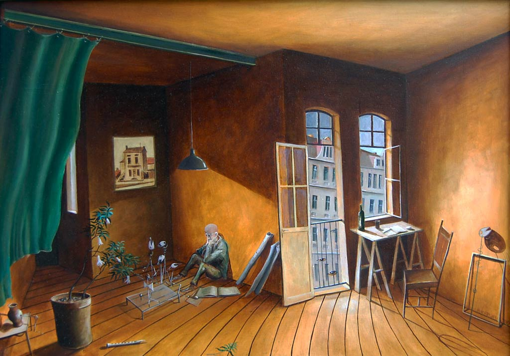 »Was nun?«, Benjamin Kerwien, Öl auf Holz, 50 x 60 cm, 2009