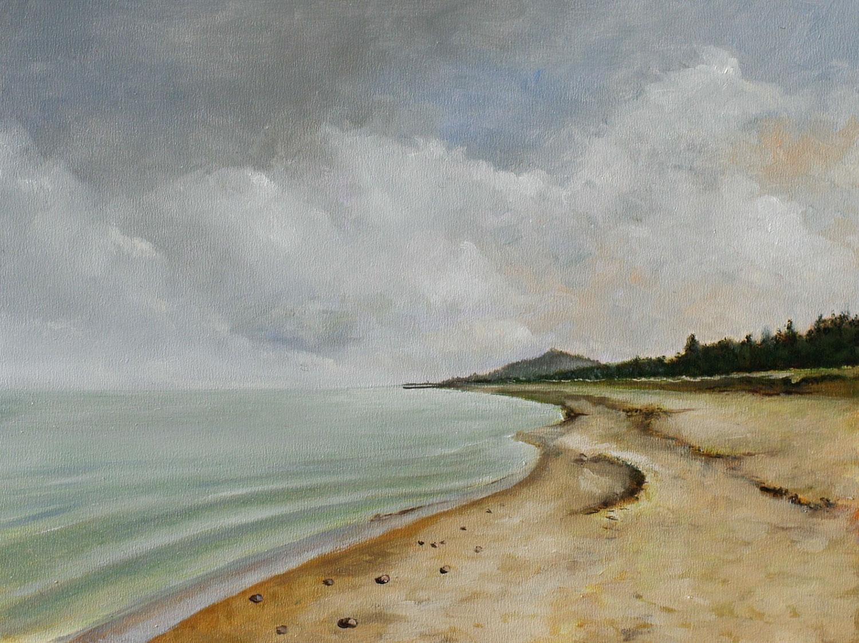 »Strand«, Benjamin Kerwien, Öl auf Mdf, 20 × 15 cm, 2015